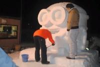 北見冬まつり 雪像作成(3日目) (3)