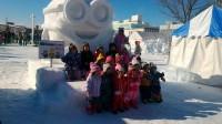 北見冬まつり 雪像写真撮影(1日目) (1)